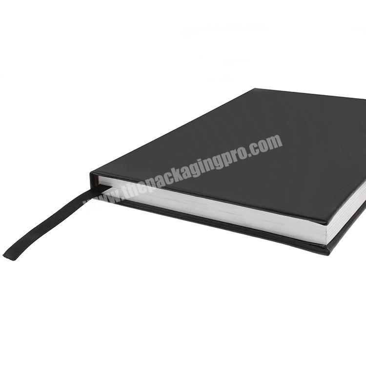 Custom wholesale custom logo fancy PU leather notebook for business meeting notebook