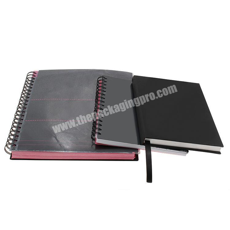 Wholesale wholesale custom logo fancy PU leather notebook for business meeting notebook