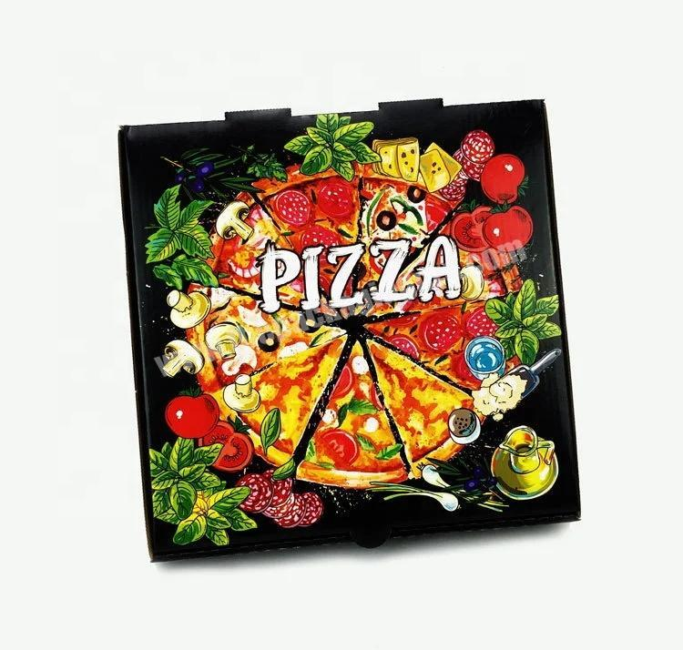 Custom Wholesale custom Pizza Kraft Paper High Quality Packaging Box