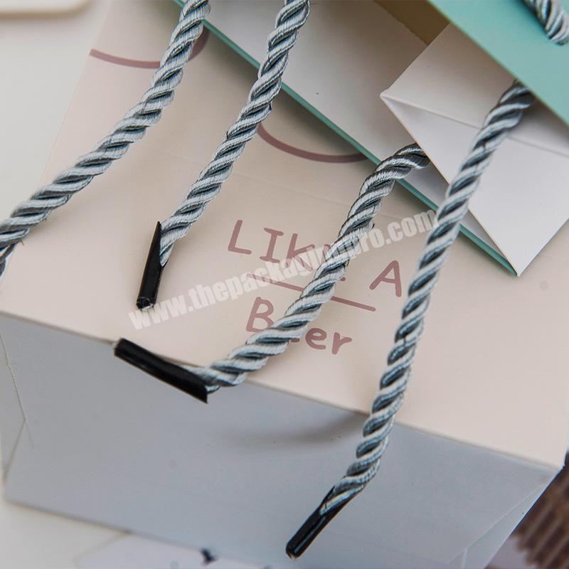 Wholesale custom popular wine bottle shopping paper bag for gift