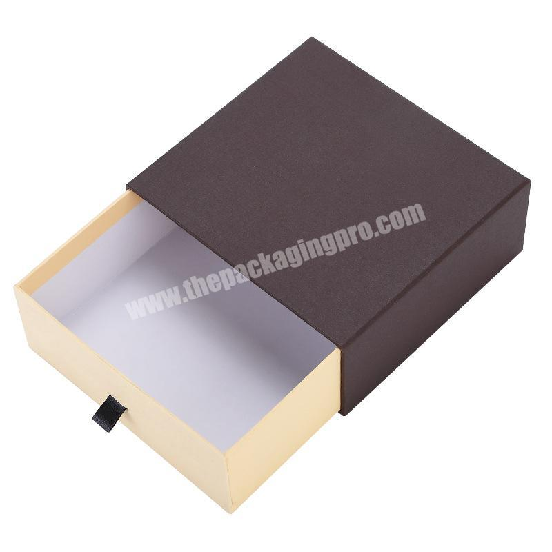 Wholesale Custom Recyclable Rigid Tie Silk Socks Gift Box with Drawer Sliding