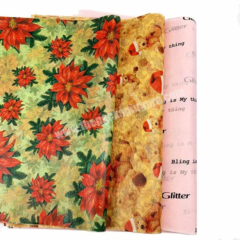 Wholesale Custom Stylish Printed Clothing Packaging And Promotions Tissue Paper For Gift Packaging