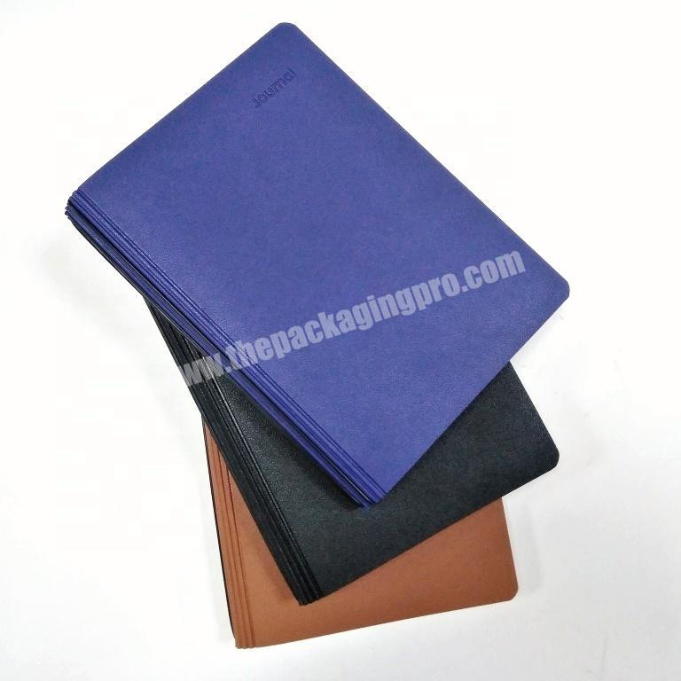 Wholesale customized notebook writing diary college journal leather organizer