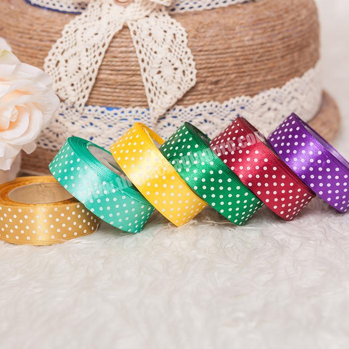 Wholesale decorations pull flower ribbon gift satin printed ribbon for christmas