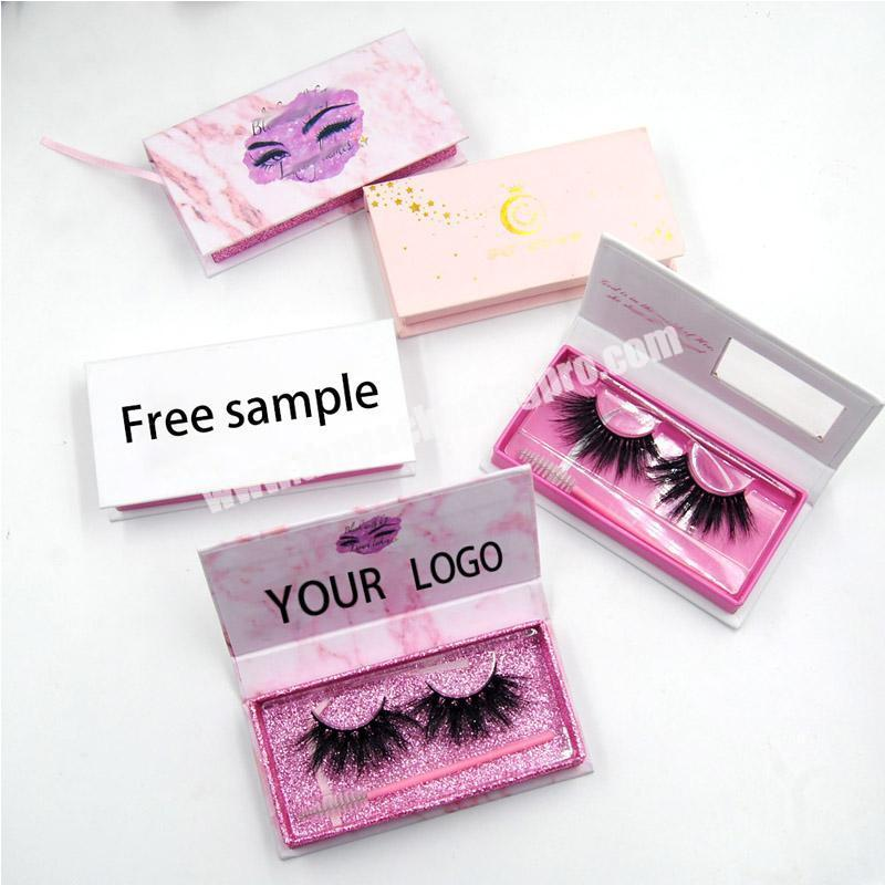 Wholesale Eyelashe Packaging Box Lash Boxes Packaging Faux Mink Lashes Square Round Empty Case Bulk
