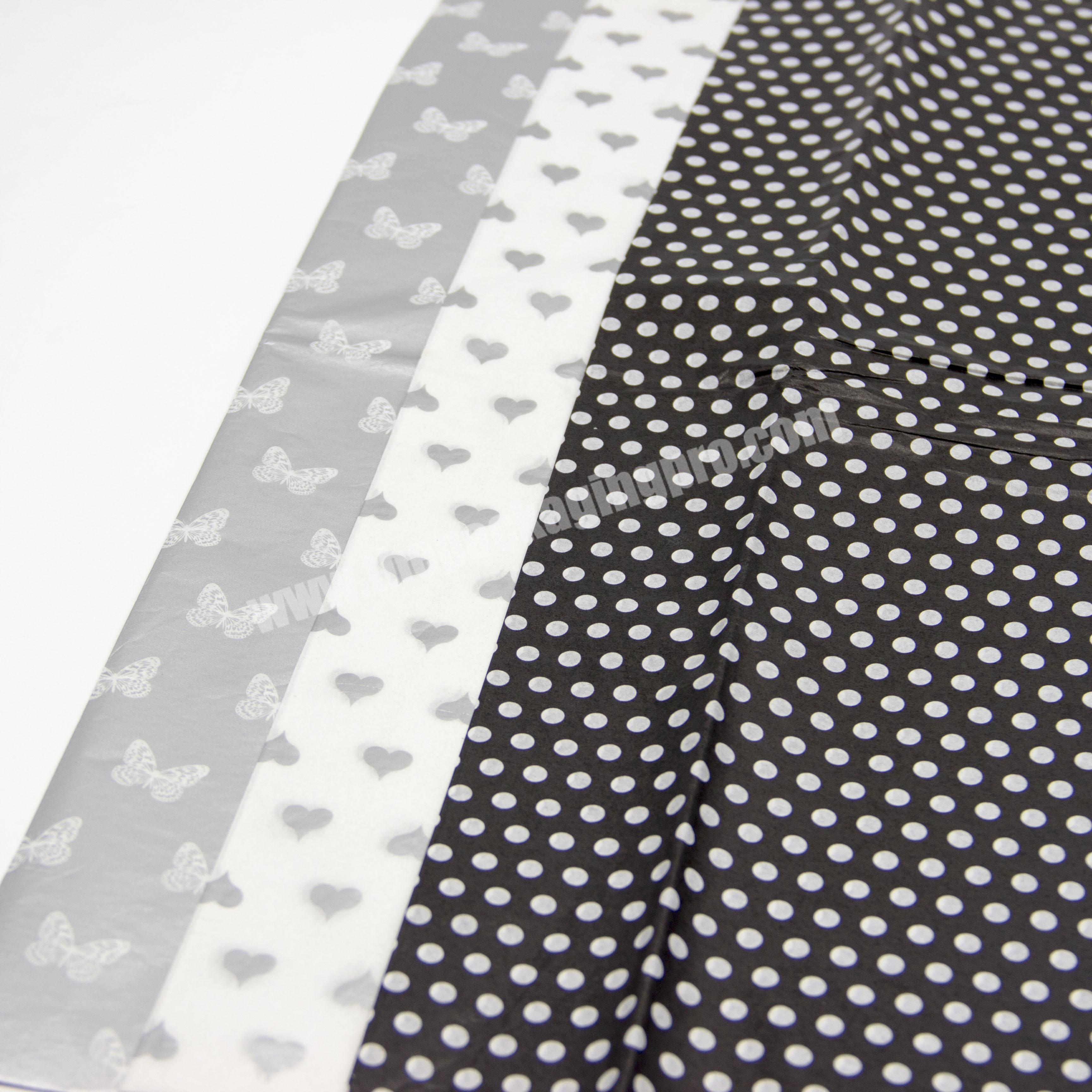 Wholesale Fashionable custom printed tissue wrapping paper clothes wrapping tissue paper with your design