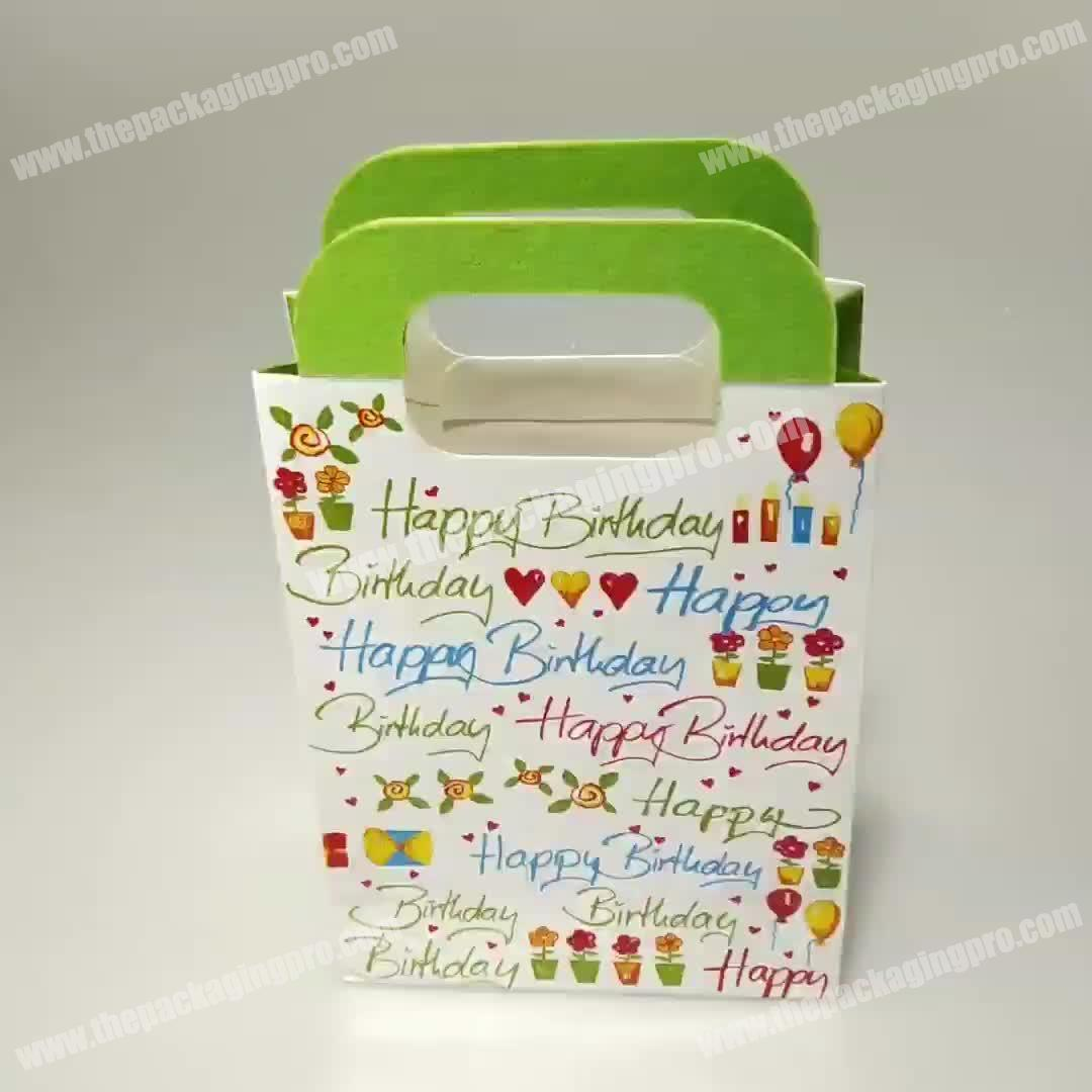 Wholesale Free Sample Colorful Luxury Gift Bags Paper Shopping Birthday With Handle