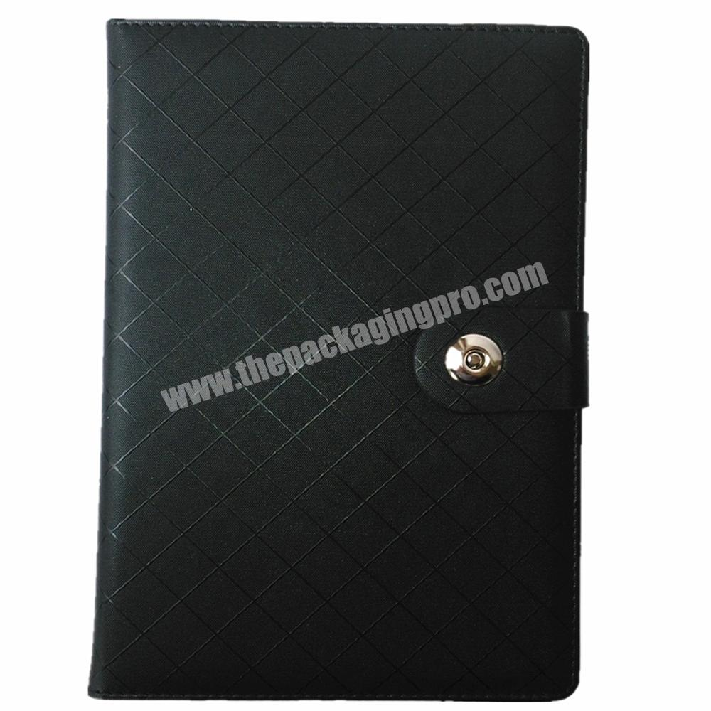 Wholesale hardcover notebook custom logo diary pu journal with button