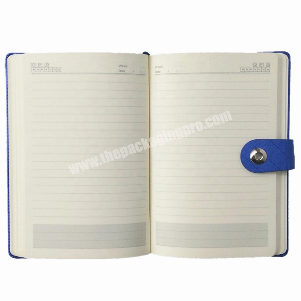 Shop Wholesale hardcover notebook custom logo diary pu journal with button