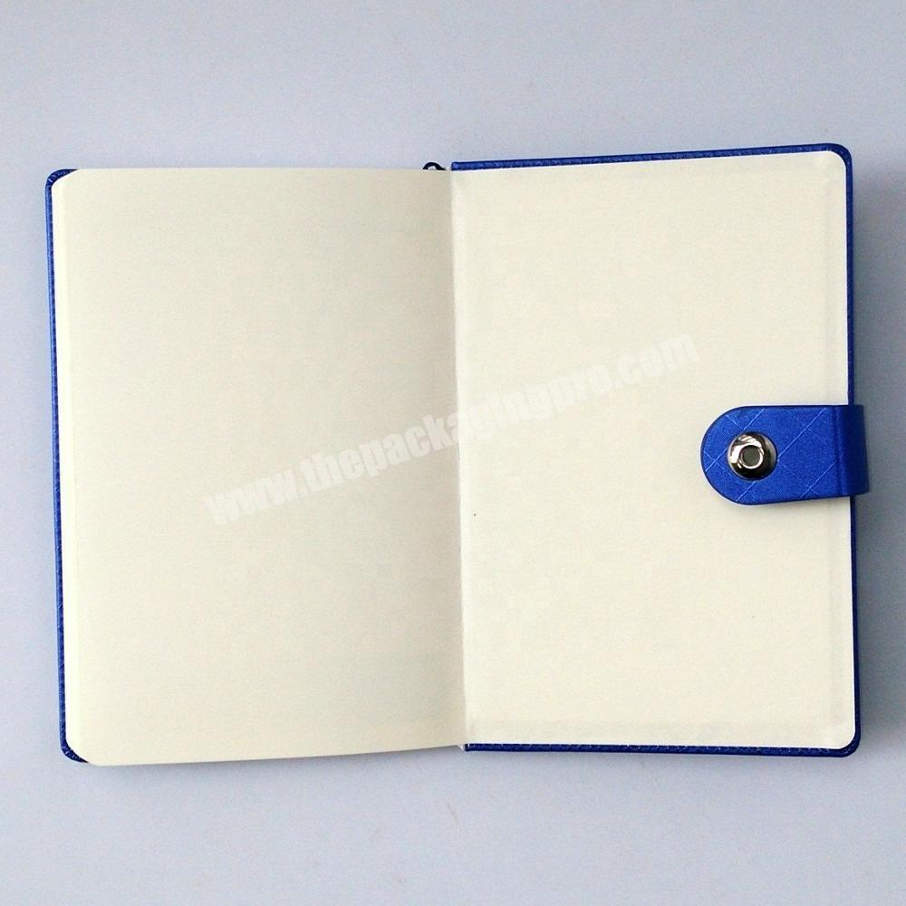 Supplier Wholesale hardcover notebook custom logo diary pu journal with button