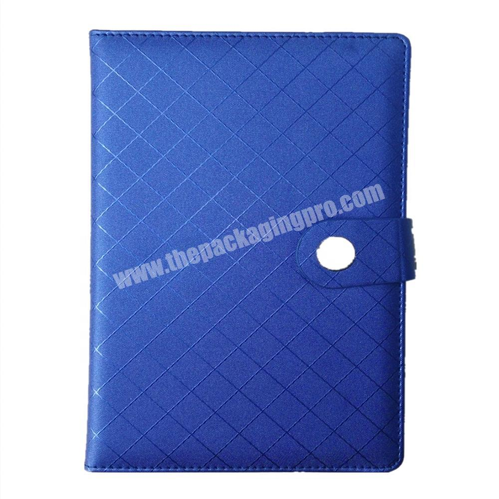Manufacturer Wholesale hardcover notebook custom logo diary pu journal with button