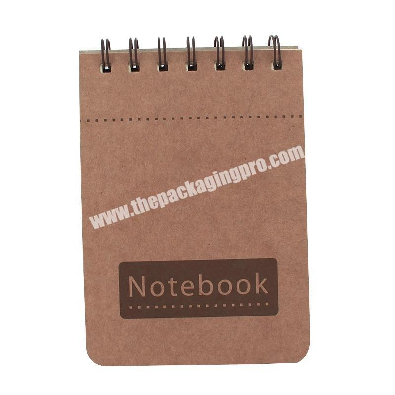 Wholesale Kraft Cover Mini Notebook Customised Fashionable Memo Cheap Price Eco Friendly Fancy Notepads With Custom Logo