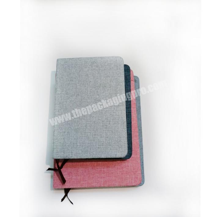 Wholesale Lined Paper Fabric Cover Linen Notebook Journal