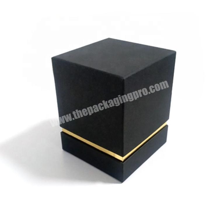 Wholesale Luxury Small Matte Black Cardboard Paper Packaging Candle Gift Box