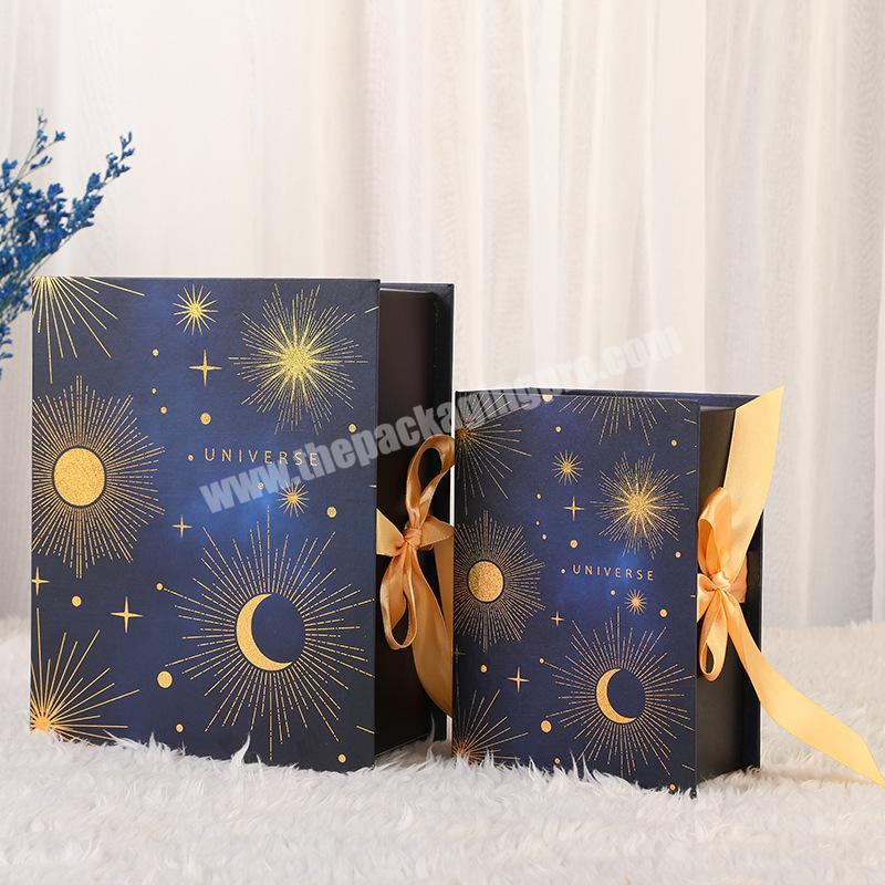 Wholesale Manufacturer Company Kraft Material Custom Shoes Clothes Gift Box With Ribbon