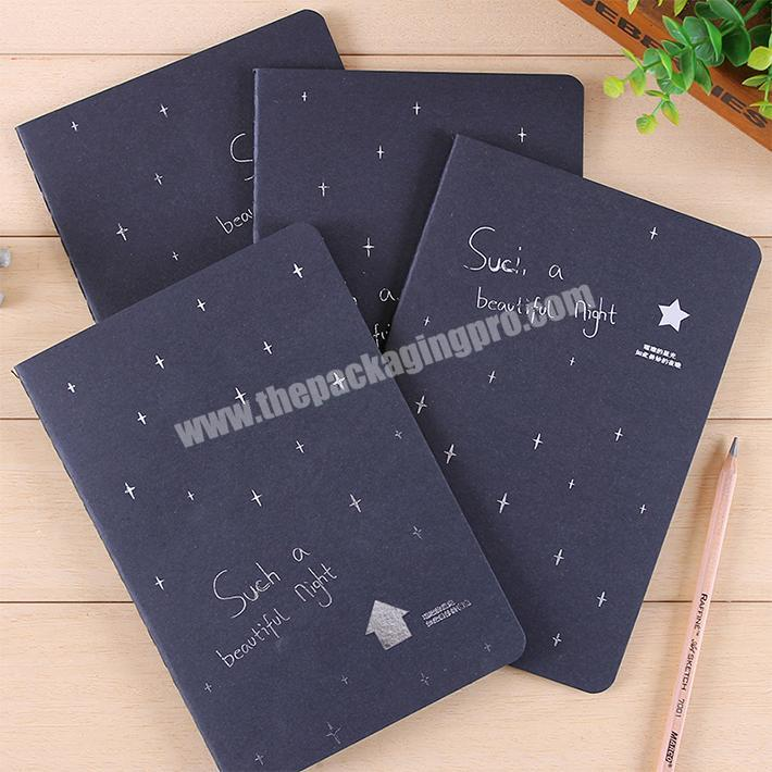 Wholesale office stationery writing plain custom softcover notebook