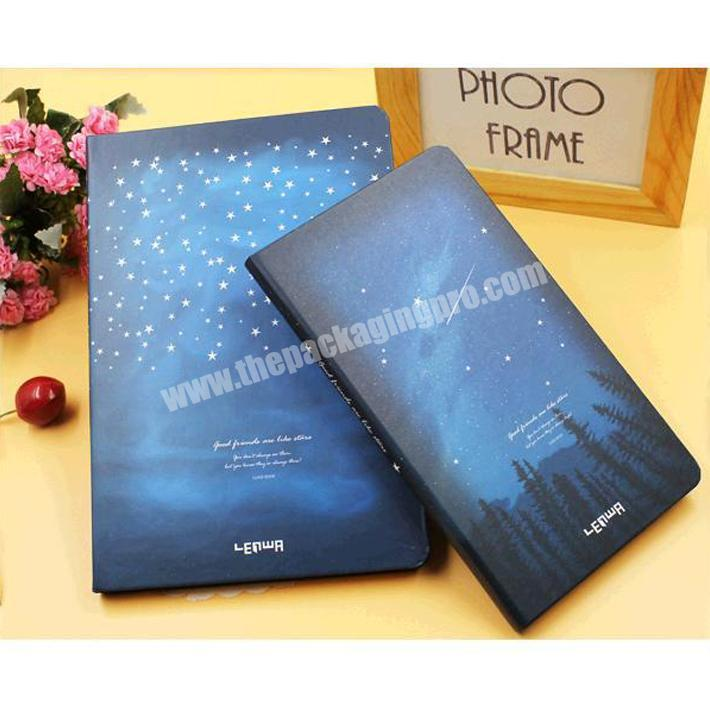 Manufacturer Wholesale office stationery writing plain custom softcover notebook