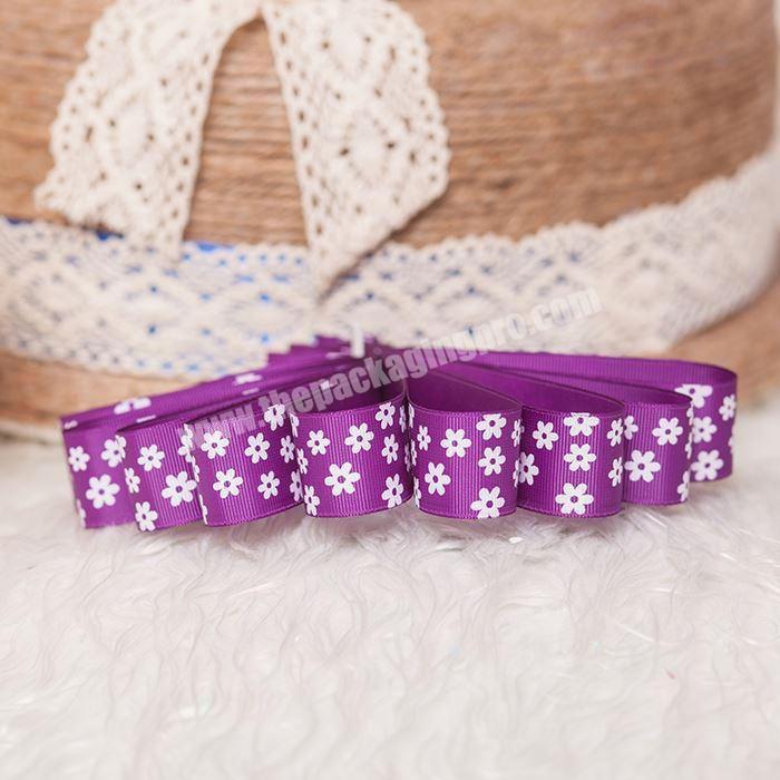 Wholesale Packing Food Ribbon Decorative Grosgrain Ribbon With Logo