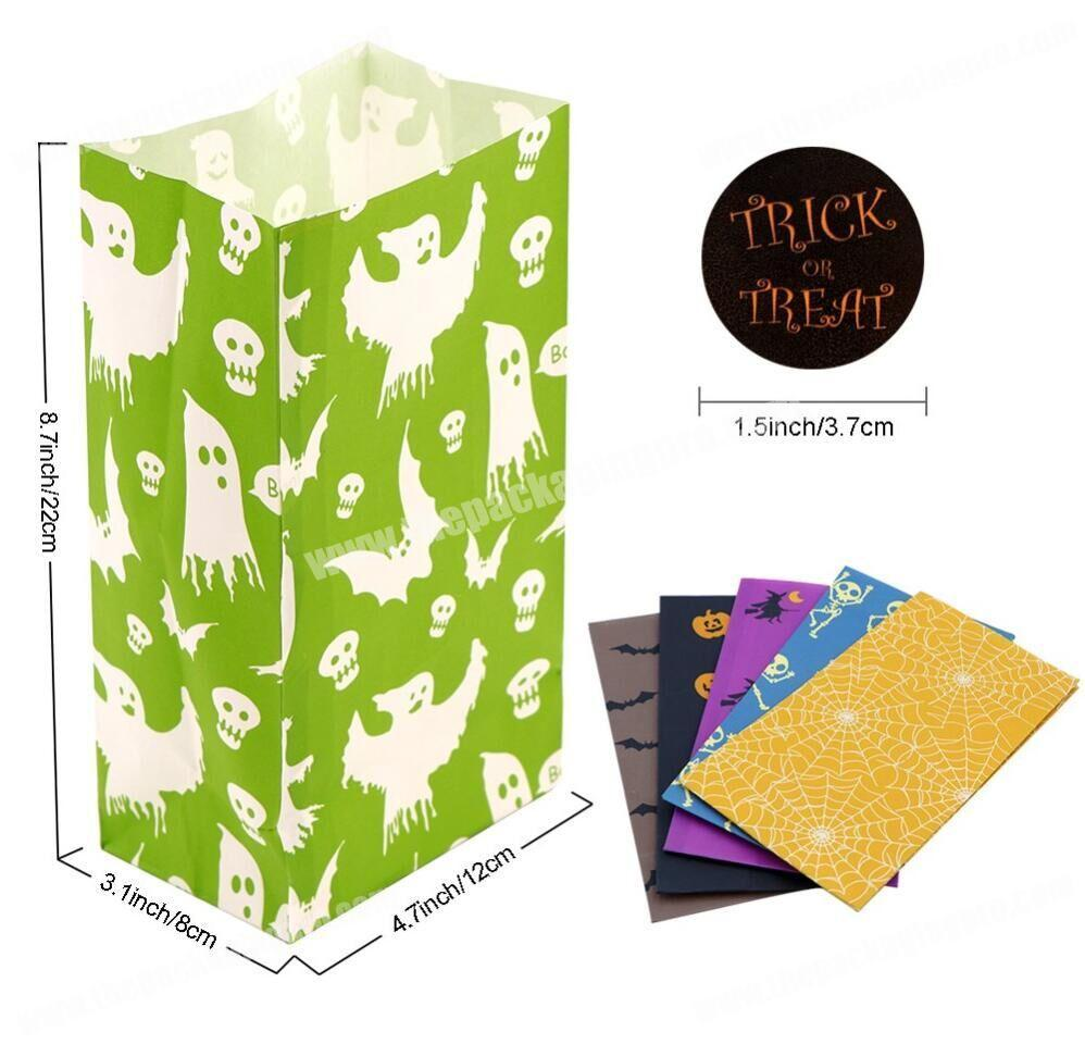 Wholesale Party Use Packaging Bags Various Kraft Paper Bags Halloween Decoarations