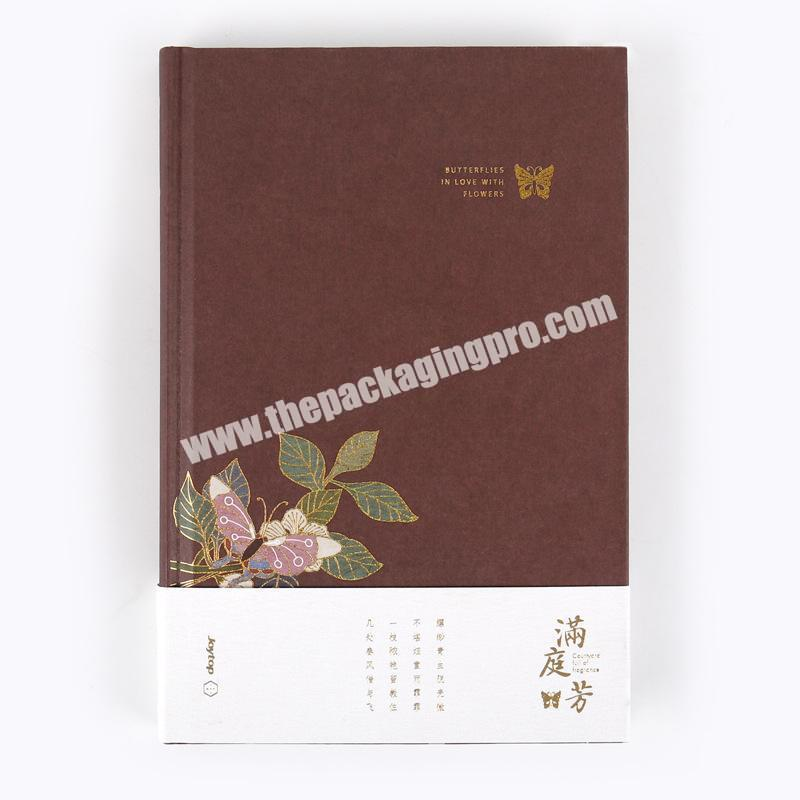 Wholesale Popular School Student Paper Cardboard Matte Laminated Cover Thick Notebook Diary Logo Printed Paperback Journal Notes