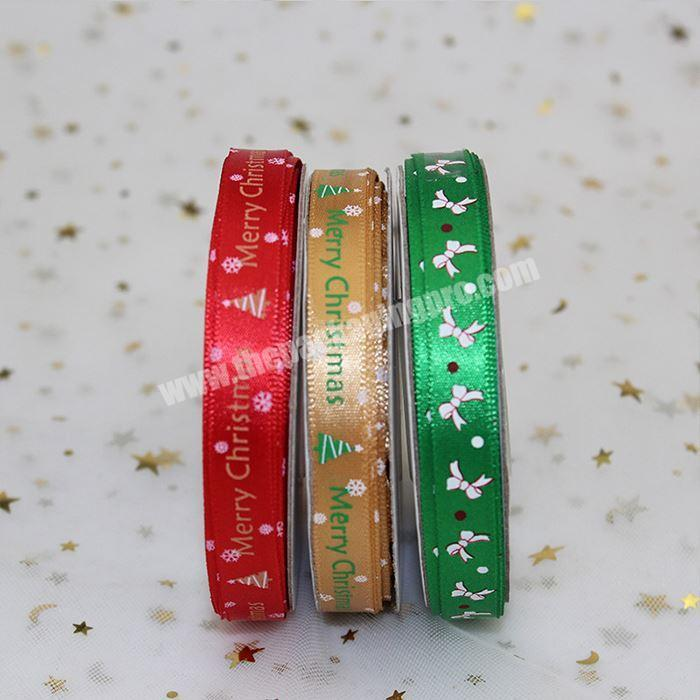 Wholesale Printed Christmas Satin Ribbon For Decoration