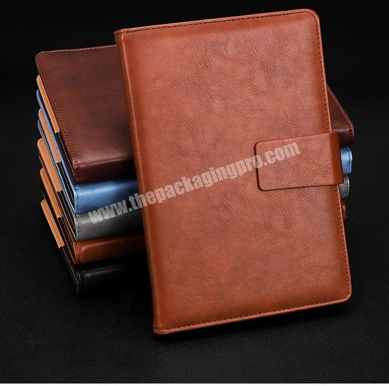 Wholesale PU Leather Agenda Business Notebook With Metal Buckle Personal Diary