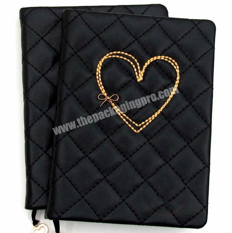Wholesale PU Leather Notebook Custom Happiness Diary Cute Journal For Gift