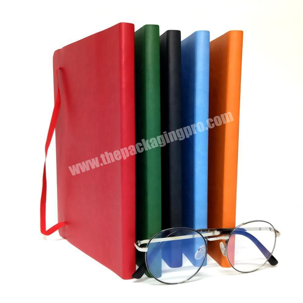 Wholesale pu leather notebook reusable journal custom diary academic planner