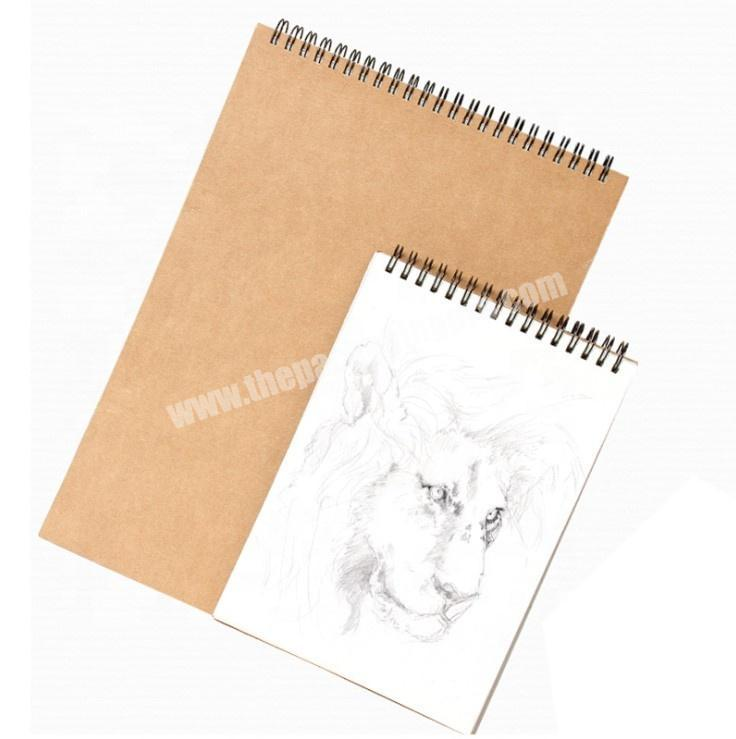 Wholesale Recyle Craft Paper Hardcover School Supplies Notebook Spiral Drawing Sketch book