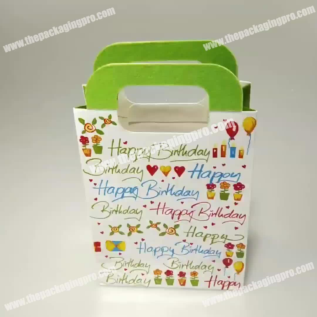 Wholesale Top Quality Free Sample Colorful Luxury Gift Bags Paper Shopping Bags with Handle